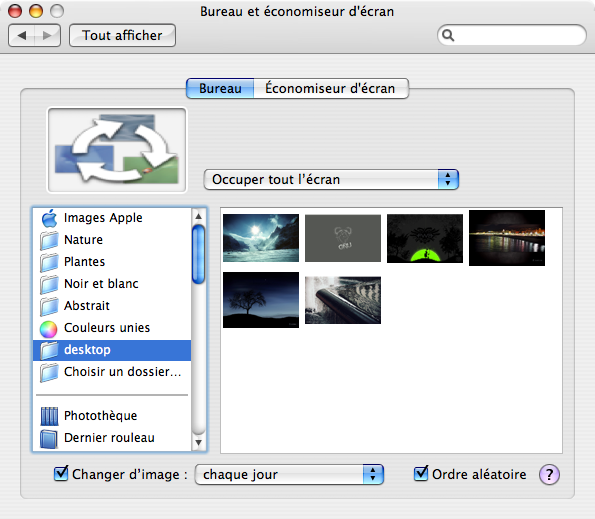 Mac OS X fond ecran