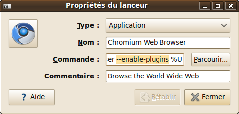 Chromium add plugin