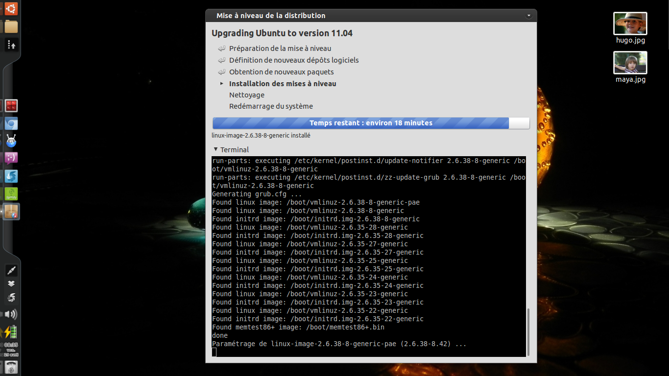 Installer ubuntu u lea linux