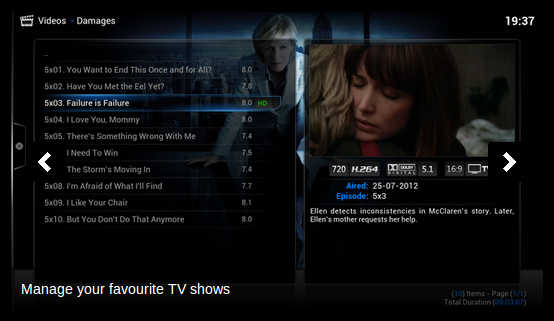 OpenElec screenshot